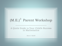 A Quick Guide to Your Child's Success in Mathematics