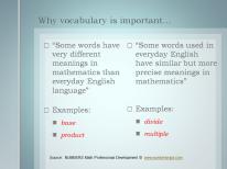 Focusing on Vocabulary
